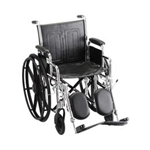 "18"" STEEL WHEELCHAIR W/ DETACHABLE DESK ARMS & ELEVATING LEG RESTS - 5185SE - Item Number:      5185SE