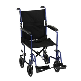 19 inch Transport Chair with Fixed Arms - Image Number 602324