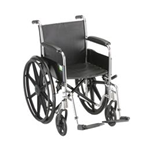 "18"" STEEL WHEELCHAIR WITH FIXED ARMS & FOOTRESTS - 5080S - Item Number:      5080S