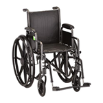 "18"" Steel Wheelchair Detachable Full Arms and Footrests - The Steel Wheelchair 18 inch (5186S) comes equipped with detacha"