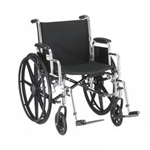 "18"" STEEL WHEELCHAIR WITH DETACHABLE ARMS AND FOOTRESTS - 5180S - Item Number:      5180S
