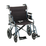 22 inch Transport Chair with 12 inch Rear Wheels - The Lightweight Transport Chair 22 inch 332 has a lightweight al