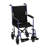 19 inch Transport Chair with Fixed Arms - The Lightweight Transport Chair 19 inch 329 has a lightweight al