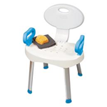 EZ Bath and Shower Seat - Secure handles assist with sitting down and standing up