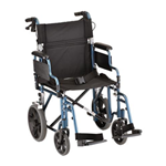 19 inch Transport Chair with 12 inch Rear Wheels - 352B - The Lightweight Transport Chair 19 in. 352B (Blue) has a lightwe