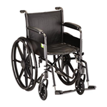 "18"" Steel Wheelchair Fixed Arms and Footrests - 5080S - The Steel Wheelchair 18 inch (5080S) comes equipped with fixed f"