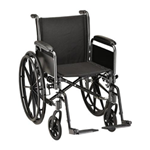 "18"" Steel Wheelchair with Detachable Full Arms and Footrests - The Steel Wheelchair 18 in. (5181S) comes equipped with detachab"